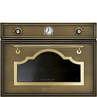 Компактный многофункциональный духовой шкаф, комбинированный с пароваркой Smeg SF4750VCOT