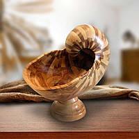 """Ваза """"Seashell"""" из натурального дерева 28х24 см"""