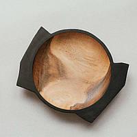 """Тарелка ручной работы """"Tone larch Eben"""" из натурального дерева 24 см"""