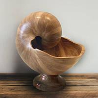 """Ваза """"Shell Oak"""" из натурального дерева 28х24 см"""