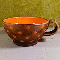 "Чашка Фира ""Funny pea"" оранжевая 350 мл"