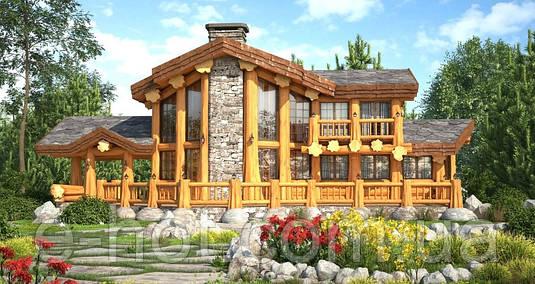 Строительство ресторана из дикого бруса