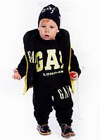 """Тёплый детский двухсторонний костюм-тройка на байке + синтепон """"GAP"""" в расцветках"""