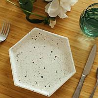 """Тарелка Eugenia's pottery """"Honeycombs"""" 21 см"""