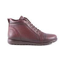 Ботинки кожаные tr7027burgundi