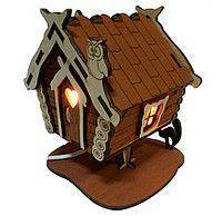 Солевой светильник дом большой