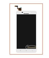 Дисплей (экран) Lenovo A5000 с сенсором White Original