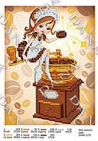 """Схема для часткової вишивки бісером """" Фея смачної кави """" D-1170"""