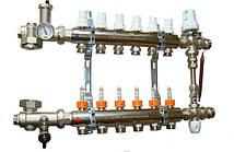Коллектор в полном сборе Icma 6 выходов. Термоголовка, смесительная группа. Без насоса., фото 3