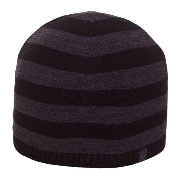 Шапка 12038 черный-тсерый