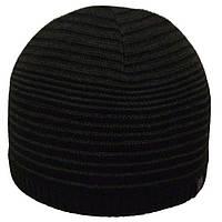 Шапка 12039 черный-тсерый