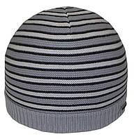 Шапка 12048 светло-серый-черный