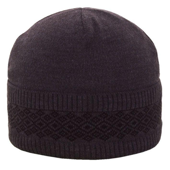 Шапка 12115 темно-серый-черный