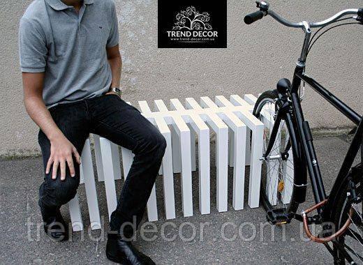 Скамейка - велопарковка 2 в 1 LP024 - TREND DECOR лидирующий производитель оборудования для благоустройства общественных территорий города в Ивано-Франковской области