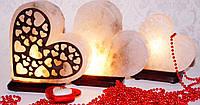 Солевой светильник сердце 1234