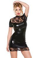 Эротическое платье с гипюровыми вставками