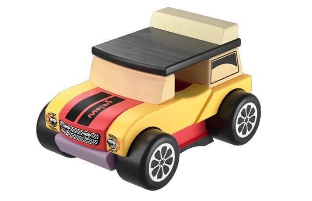 Деревянная игрушка Машинка мини-кабриолет LM-3 Cubika