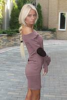 """Платье""""Латки 3"""" манжет сделан в виде перчатки."""