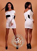 """Платье""""Латки 4"""" манжет сделан в виде перчатки."""