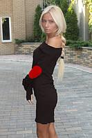 """Платье""""Латки 5"""" манжет сделан в виде перчатки."""