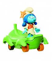 Игрушка инерционная Smurfs Смурфик Лили на листочке (30877/30872)