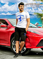 """Мужской летний костюм с шортами 828 """"Ferrari"""" в расцветках"""