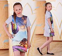 """Детское стильное платье-туника 1058-3 """"Воздушный Шар"""""""
