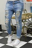 Стильны рваные джинсы пр-во Турция размеры 25,26,27,28,29,30