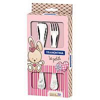 """Набор столовых приборов Tramontina """"Baby Le Petit pink"""" детский 2 пр"""