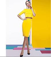 Костюм женский Топ(рукав 3/4)+ юбка карандаш.