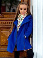 """Детское элегантное пальто для девочек 050 """"Кашемир Змейка"""" в расцветках"""