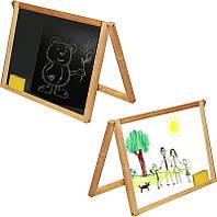 Доска деревянная двухсторонняя 005 - материал ольха, доска 53*43см, двухсторон., одна сторона для маркеров,