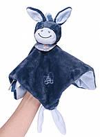 Мягкая детская игрушка-кукла Nattou ослик Алекс 321150 синий