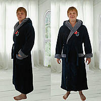Мужской длинный халат  большого размера Баттал