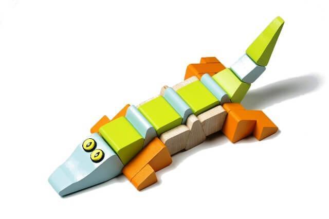 Деревянная игрушка Крокодил-акробат LA-2 Cubika