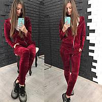 Женский велюровый костюм; Спортивный костюм; 3 цвета