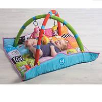 Развивающий музыкальный коврик с дугами - В кругу друзей Taf Toys  (90х90 см)