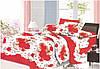 Сатиновое Комплект постельного 3D белья египетский 100% хлопок евроразмер