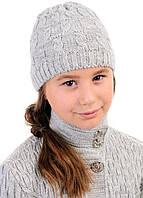 Детская шерстяная теплая вязаная шапка