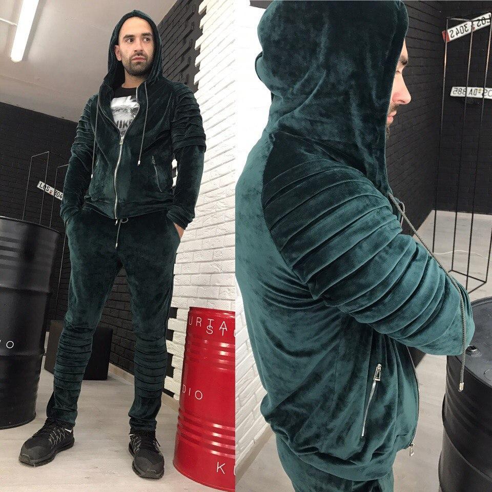 8521bcbe Мужской велюровый костюм; Спортивный костюм; Дракон; 3 цвета -  интернет-магазин