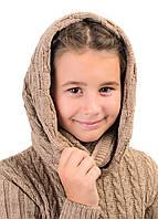 Снуд шарф хомут для девочки шерстяной теплый
