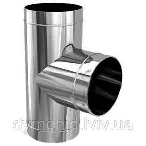 Трійник 90º з нержавіючої сталі AISI 304, т. 0,5