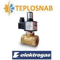Электромагнитный клапан газовый нормально открытый DN 15 Elektrogas (Italy) 600 mbar