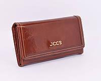 Кошелек женский кожаный JCCS 3053 коричневый классический, фото 1
