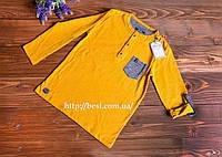 Кофта на мальчика желтая, рукав в 2х вариантах 9
