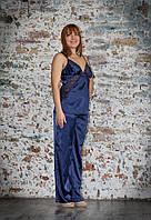 Пижама с брюками шелковая Serenade (Серенада) 433 Синий