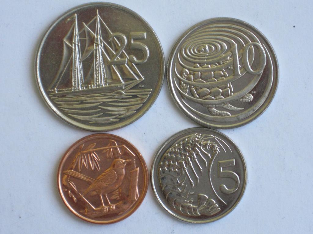 Кайманові острови 4 монети 2008