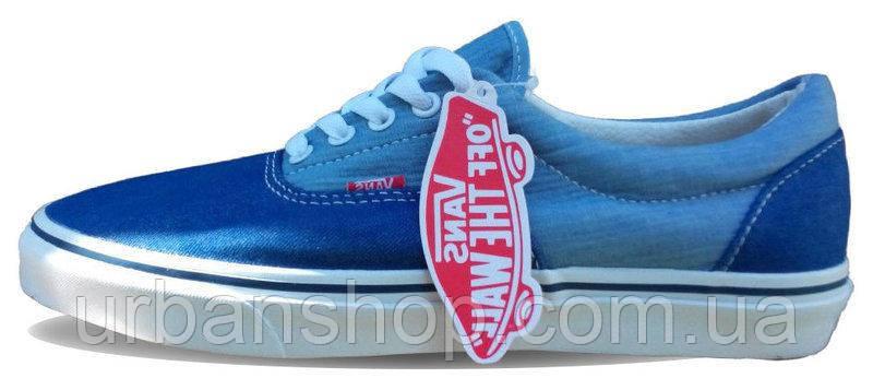 Кеди Vans New Era Double Blue