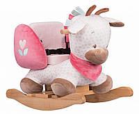 Яркое детское деревянное кресло-качалка Nattou жираф Шарлотта 655538