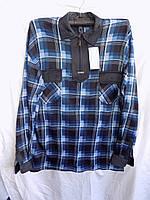 Рубашка мужская байка T3 оптом